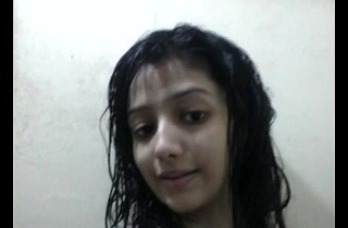 Indian Beautiful Indian girl with lovely Bristols bathroom selfie - Wowmoyback