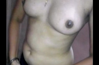 Cute Indian Wife Stripping &amp_ showing full body to her lover