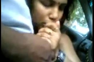 Indian Chick Giving A Blowjob In The Car