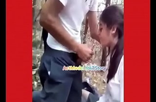 College elder swell up crappy dick inside forest sex