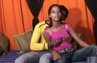 Juvenile Indian Couple Fuck Readily ready Home